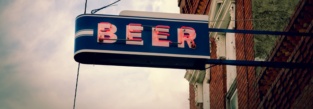 beer sign