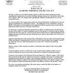 Notice-Act-2013-372-Amendments to Alabama Terminal Excise Tax Act